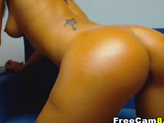 Dark Skinned Mexican Shows Her Perfect Thick Ass