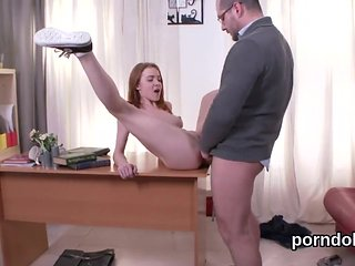 Lovely schoolgirl is seduced and drilled by her senior ...