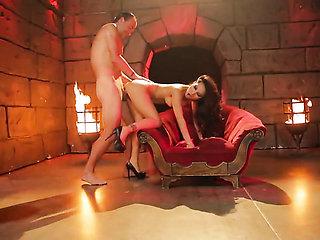 Asa Akira takes boner in her anal hole
