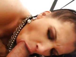 Rebecca Linares gobbles down a duo of dicks