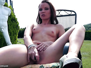 Redhead Allison has a body of a beauty goddess and sho...