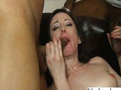White whore loves black monster cocks