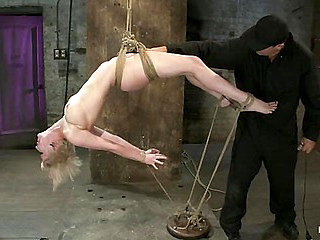 Hot blond suffers though a brutal Category 5 inverted s...