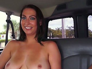 Tiffany Cane flaunts her perfect tits on Bang Bus