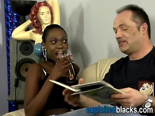 African babe takes white cock in pussy