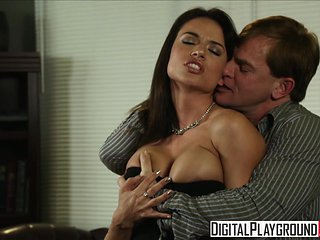 Dirty assistant Franceska Jaimes fucks her boss on his ...