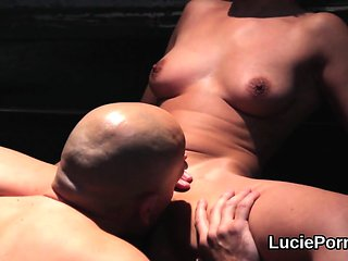 Greenhorn lesbian cuties get their narrowed vulvas lick...