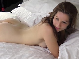 Innocent Hayley taking massive facial load after gettin...