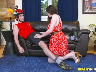 naughty milf makes me feel better with a blowjob