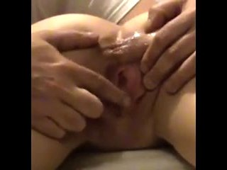 Closeup Pussy Spread Clit Rub