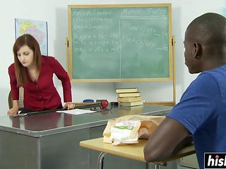 Hot Teacher Enjoys A Black Staff