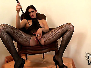 Brunette is horny as hell and fucks herself with toy w...
