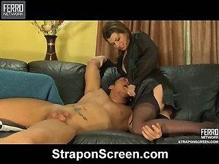 Gloria&Govard raunchy strapon action