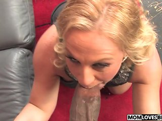 Huge black cock for mom Stunning Summer in front of her...