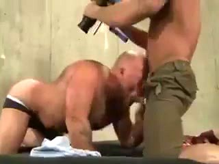 Pornography audition of the muscle daddy