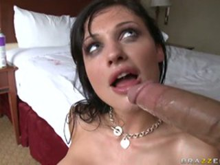 Gorgeous hot Aletta Ocean loves to get her mouth drippi...