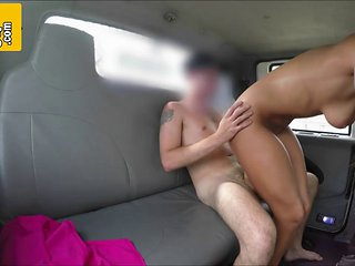 Stunning Brunette Bitch Fucked Hard In Fake Tow