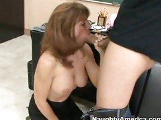 Bitchy teacher Trisha Lynne enjoying her mouth stuffed ...