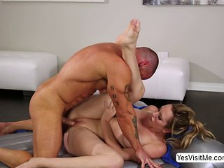 Sexy Hunk Stud Marco Releases Sticky Cum All Over Brett...