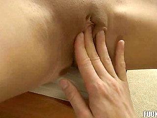 Beautiful hottie enjoys anal drilling