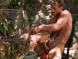 Lily Labeau makes man unload spunk upon her face