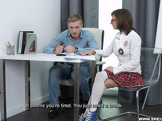 She Is Nerdy - Nerdy Slut Gets Drilled