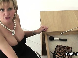 Unfaithful british milf lady sonia pops out her heavy k...