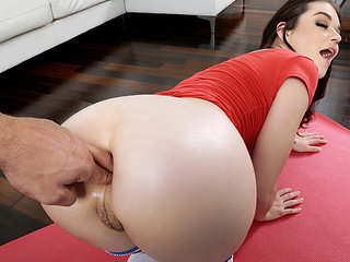 Anastasia Rose in Anal Stretching After Yoga - LetsTryAnal