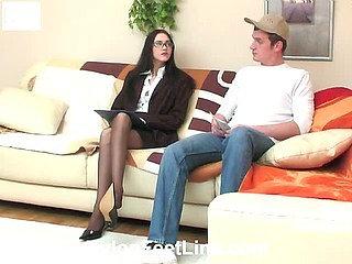 Judith&John nylon footsex video
