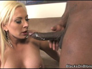 Skyler Price blonde play with two hard black cocks