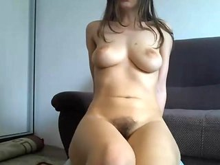 Hairy babe with big breasts