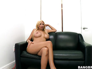 Blonde chicana Paris Sweet with massive breasts and cl...