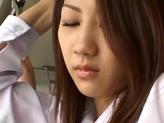 Exotic Japanese girl Akane Mochida, Rina Himekawa in Be...