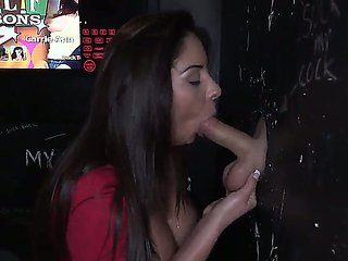 Big tits porno chica Candi Cox fucks gloryhole style