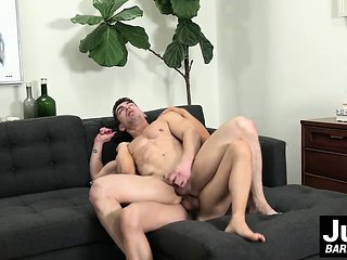 He loves when rock hard dick thrusts in his tight asshole