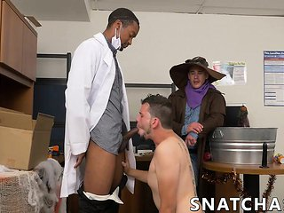 Hot hunks have interracial hallowen gay sex party in of...
