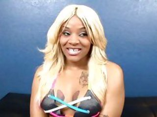 Blonde ebony Kakey has her hole creamed
