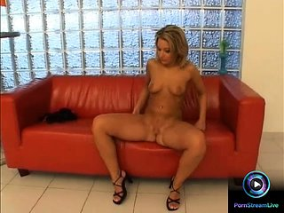 Hot Camille seductively playing with her fave dildo