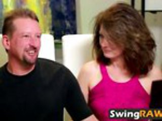 Real couple enters a mansion full of horny swingers