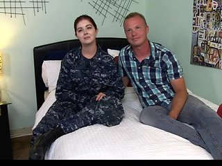 JANICE CUTE REDHEAD NAVY GIRL BANGED HARD