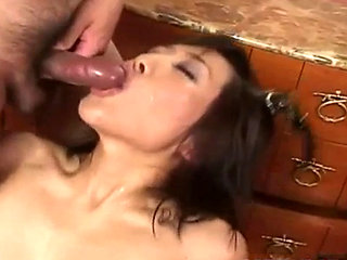 Tsubasa Okina Gets Cum In Mouth And Cooter