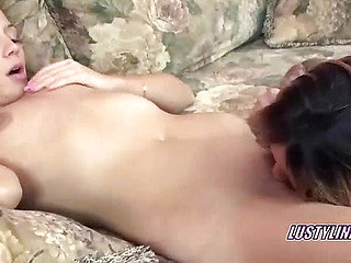 Lesbian cutie Lina munching a curvy housewife