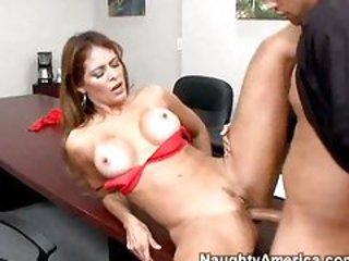 Horny secretary Monique Fuentes getting hardcore with a...