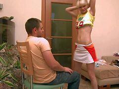 Turned on skinny blonde teen Loly