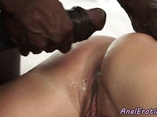 Anal loving beauty creamed by big black cock