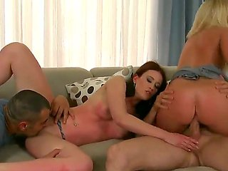 Foursome fuck with bad euro girls Minnie and Angie Koks