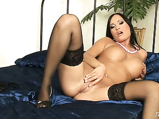 Claudia Capri with gigantic melons and smooth beaver in...
