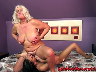 Adorable Teen Pussylicked By Hairy Granny