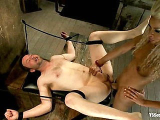 One Man's Fantasy:  Ts Cock Punishing His Ass