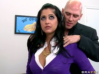 Super Busty Brunette Office Slut Kimber Kay Gets Fucked...
